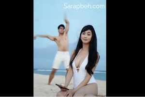 Boobs ni Alodia Gosiengfiao sexy in bikini sa beach